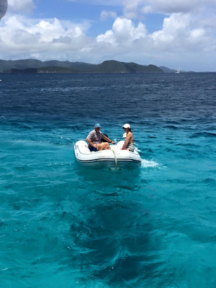 Dinghy at Jost van Dyke